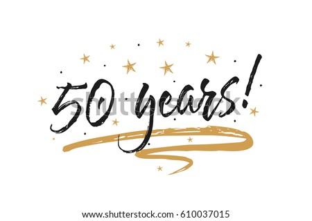50 Years Card Banner Beautiful Greeting Stock-Vektorgrafik 610037015 ...