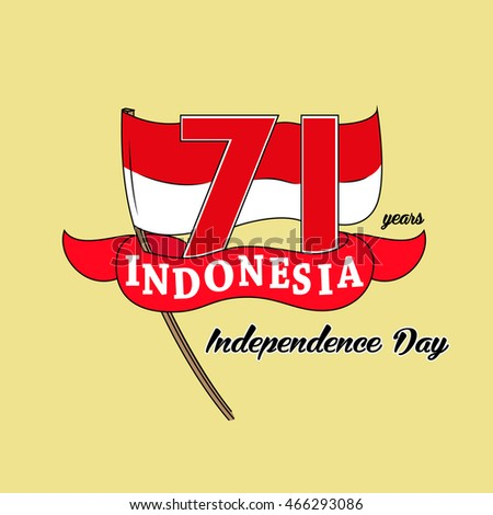 Happy independence day indonesia 71