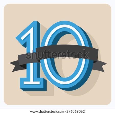10 years laurel - stock vector