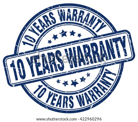 10 years warranty blue grunge round vintage rubber stamp.10 years warranty stamp.10 years warranty round stamp.10 years warranty grunge stamp.10 years warranty.10 years warranty vintage stamp. - stock vector