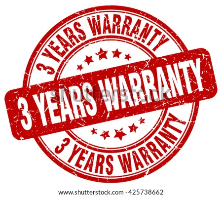 3 years warranty red grunge round vintage rubber stamp.3 years warranty stamp.3 years warranty round stamp.3 years warranty grunge stamp.3 years warranty.3 years warranty vintage stamp. - stock vector