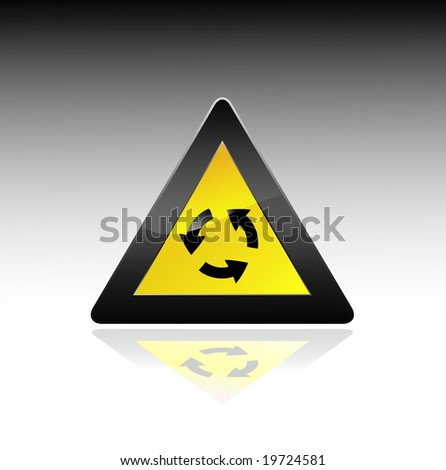 yellow sign. Vector