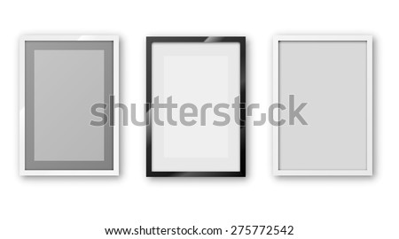 A6 / A5 / A4 / A3 or other A Format paper Frames with different design and  thin borders. Vector illustration. - stock vector