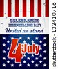 A4 American Independence Day grunge poster. EPS10 vector. - stock photo