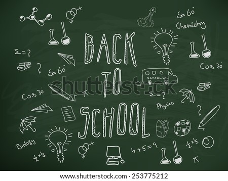 A back to school doodle design. - stock vector