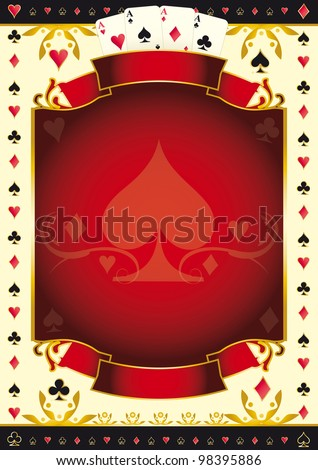 A background for your Poker Tour. Write your message on the copy space. - stock vector