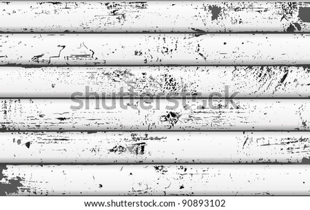 A background of weathered white wooden plank (vector) - stock vector