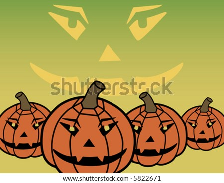 A background vector illustration of stylized pumpkins.