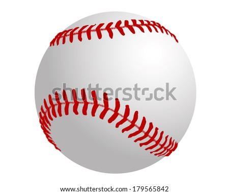 a ball to play baseball on a white background
