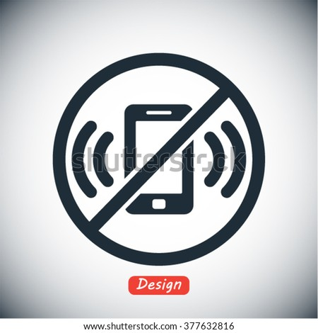 A ban on the phone  icon, a ban on the phone  vector icon, a ban - stock vector