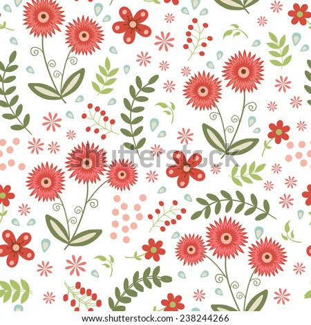 A beautiful seamless floral pattern. Vector illustration - stock vector