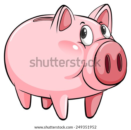 A big piggybank on a white background - stock vector