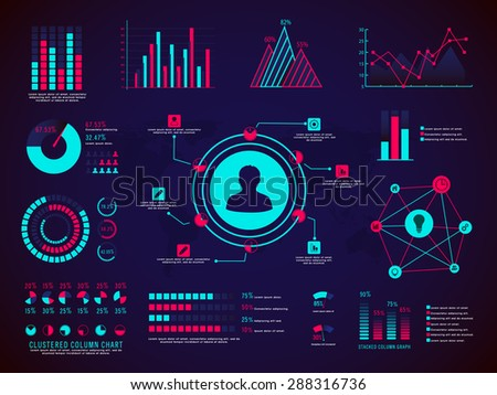 A big set of different statistical graphs and charts for your business or corporate sector. - stock vector