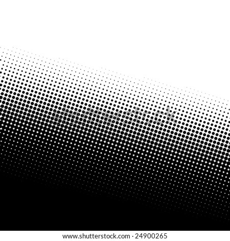 A black and white halftone background with plenty of copy space. - stock vector
