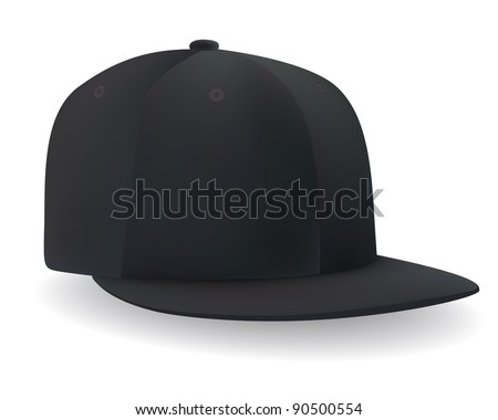 a black baseball cap - stock vector
