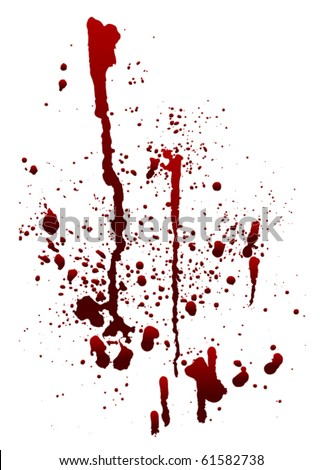 A blood spatter graphic on white. Eps 8 Vector.