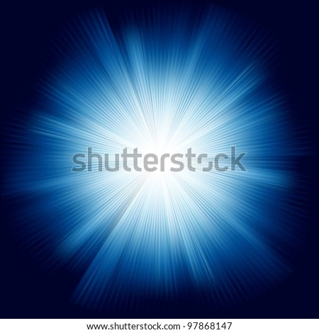 A Blue color design with a burst. EPS 8 vector file included - stock vector