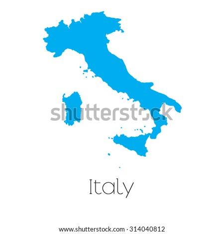 Blue Italy Map Flag Stock Vector 720227248 Shutterstock