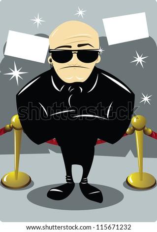 A body guard at award night - stock vector