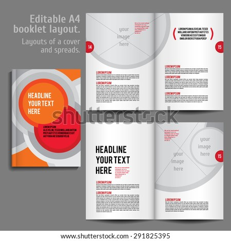 a 4 booklet layout design template cover stock vector royalty free