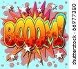 A Boom Comic Book Illustration - stock vector