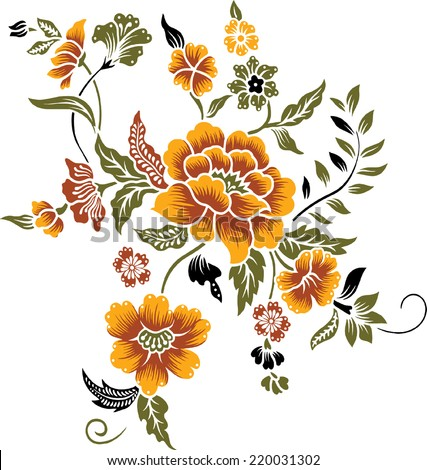 a bouquet of orange flower. - stock vector