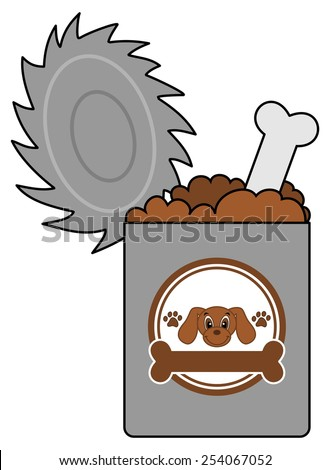 a box of dog food - stock vector