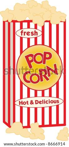 A box of popcorn - stock vector