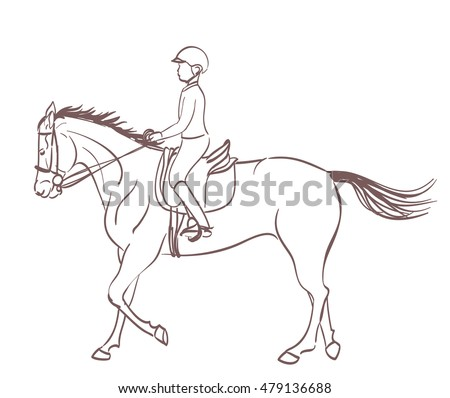 Boy Riding Horse Eques...