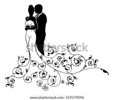 Really Husband and wife silhouette are not