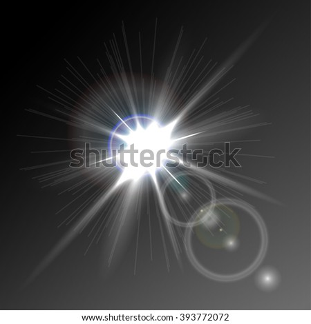 a bright flash of light, glare, detail design, vector eps 10