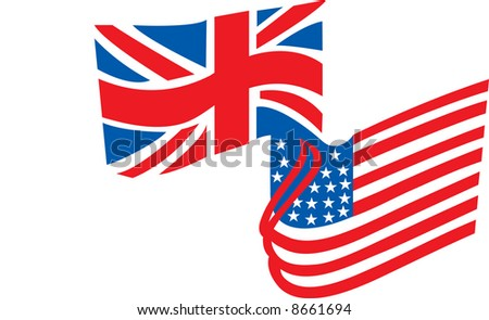 A British and American Flag combined