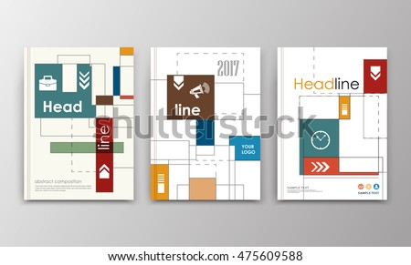 A 4 brochure cover design triple ad stock vector 475609588 triple ad frame font patch title sheet model creative ccuart Choice Image