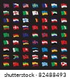 a bunch of world flags - stock