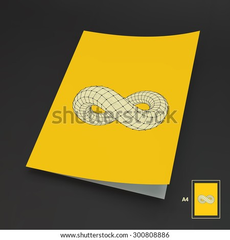 A4 Business Blank. Infinity Symbol. Can Be Used For Advertising, Marketing And Presentation. - stock vector