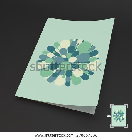 A4 Business Blank. Salute And Fireworks. 3d Vector Illustration. Celebration Card. Can Be Used For Advertising, Marketing And Presentation. - stock vector