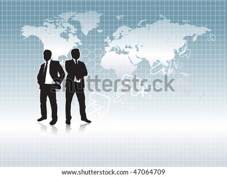 A business people are going work experience, conceptual business vector illustration. - stock vector