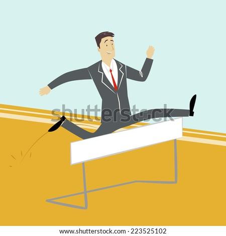 A businessman jumping  - stock vector