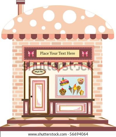 a cafe at the old city - stock vector