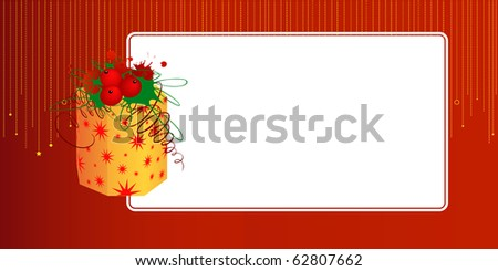 A card with box and text blank - stock vector