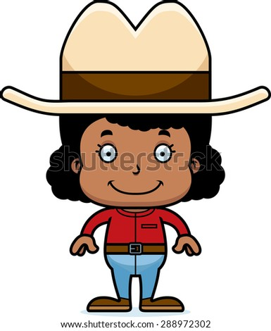 Cartoon Cowboy Ready Draw Isolated Stock Vector 104312420