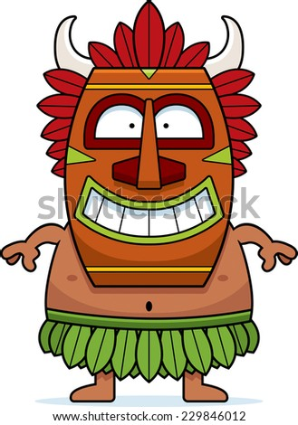 A cartoon illustration of a witch doctor smiling.