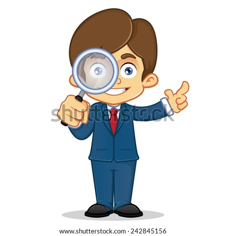 A cartoon illustration of businessman - stock vector