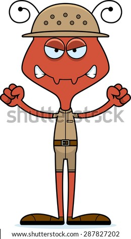 Cartoon Hermes Ant Looking Angry Stock Vector 287804366 ...