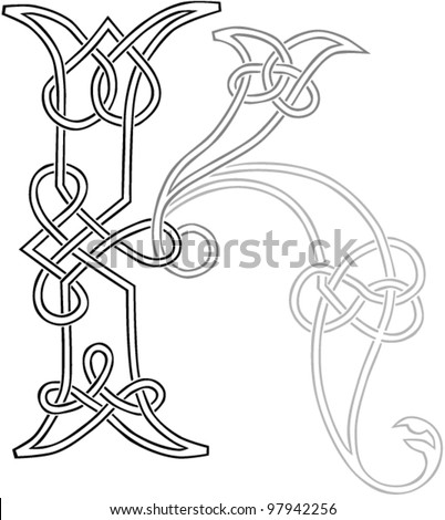 Celtic Letters Stock Images, Royalty-Free Images & Vectors ...
