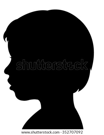 a child silhouette vector  - stock vector