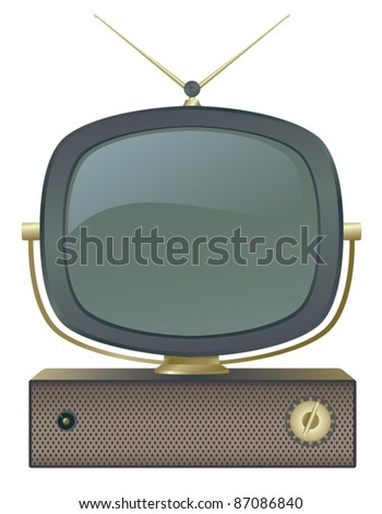 A classic retro television set. - stock vector