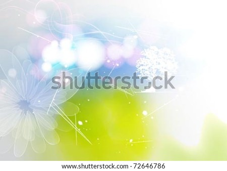 A clean & simple nature background design - stock vector