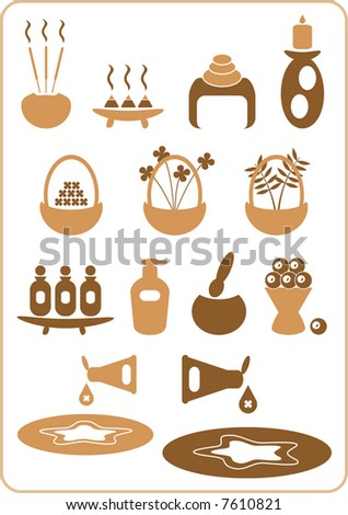 A collection of aromatherapy design elements. (Set No. 2) - stock vector