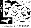 A collection of Bat silhouettes-Check out my portfolio for other collections. - stock vector